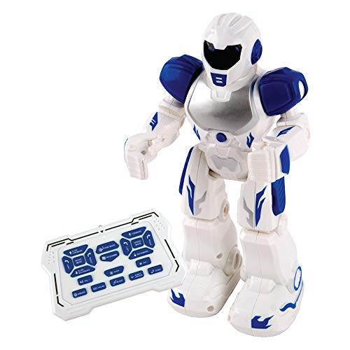 Robot - Remote Control Robot for Kids Boys Girls, Intelligent, Smart, Programmable Robot, Gesture Control, LED Eyes, Infrared Controller, Educational, Talking, Singing ,Dances, Toys, Best Gifts, Blue