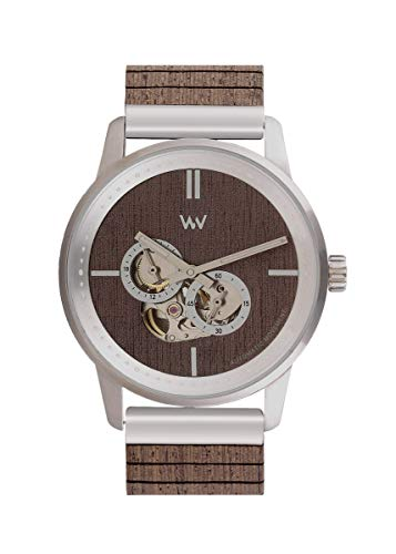 WEWOOD Herren Analog Japanische Automatik Uhr mit Holz Armband WW66001