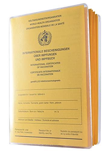 Impfpass Schutzhülle 134 x 98mm für aktuellen Impfpass Made in Germany nur bei ORGAEXPERT - dokumentenecht - transparent mit Buchrücken Impfausweis Impfbuch Hülle Etui Umschlaghülle