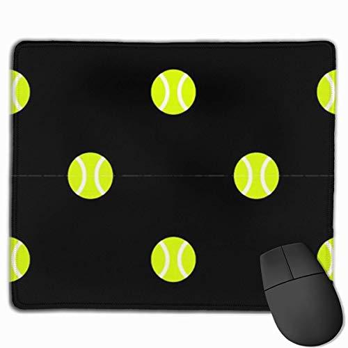 Speed Gaming Mausmatte,Office Mousepad,Laptop/Pc Mausunterlage,Tischunterlage,Tennis Ball Dot Schwarz Lustiges Mauspad Mit Genähter Mausmatte Mit Rutschfester Kante