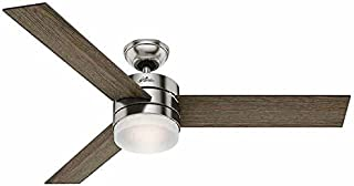 Hunter Exeter Ceiling Fan with 9 Watt Dimmable LED Bulbs and Handheld Remote | WhisperWind Motor