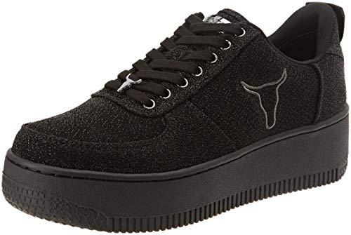 Windsor Smith Racerr, Sneaker Donna, Nero (Black 001), 37 EU
