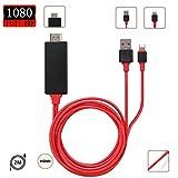 【令和2020最新版】Lightning HDMI iphone HDMI変換 ケーブル iPhon/iPad/iPodをテレビ出力 ライトニング HDMI接続 アダプター 最新iOS13対応