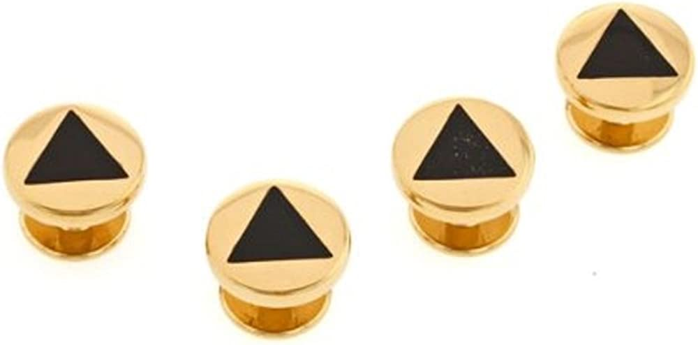 Black Triangle Shirt Studs Set. Made in The USA