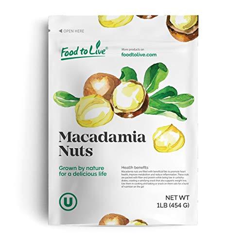 Noci di macadamia, 1 Libbra - Kosher, Crude, Vegane