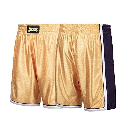 Kobe Bryant Basketball Jersey para Hombre, Mamba Black Mamba Lakers 8# Golden Retro Commemorative Edition Jerseys, Camiseta Transpirable y cómoda (S-2XL) Pants-XXL