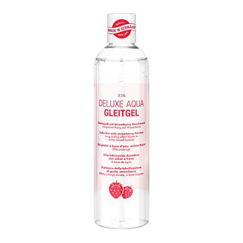 EIS, Deluxe Aqua Gleitgel, wasserbasierte Langzeitwirkung, Erdbeere, 300 ml