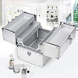 Massage-AED Caja de Primeros Auxilios portátil Caja de Aluminio con Cierre de 3 Capas Kit de Almacenamiento de Primeros Auxilios Gabinete de medicamentos para el hogar, Viajes y Lugar de Trabajo