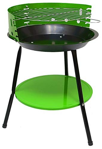 EYEPOWER Camping Holzkohle Grill - 32 cm Grillrost - Festival Standgrill - Dreibein Rundgrill Klein