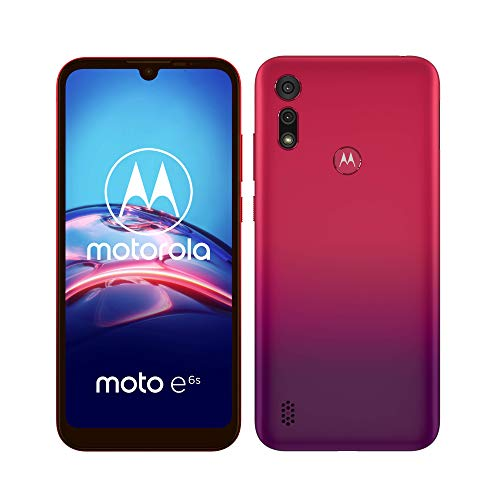 "Moto e6s Dual-SIM Smartphone (6,1""-Max Vision-HD+-Display, 13-MP-Hauptkamera, 32 GB/2 GB, Android 9) Rot inkl. Schutzcover"