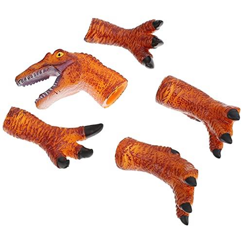 TOYANDONA 5 Piezas de Marionetas de Mano de Dinosaurio Juguetes de Cabeza de Animal Set de Garras de Dinosaurio Juguetes de Garras Accesorios de Disfraz para Nios Cosplay Fiesta Regalo