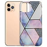 mtb more energy® Funda Cosmo Marble para Apple iPhone SE 2020, iPhone 8, 7 (4.7'') - Design 3 (Azul+Morado) - TPU Carcasa Caja Cover Case