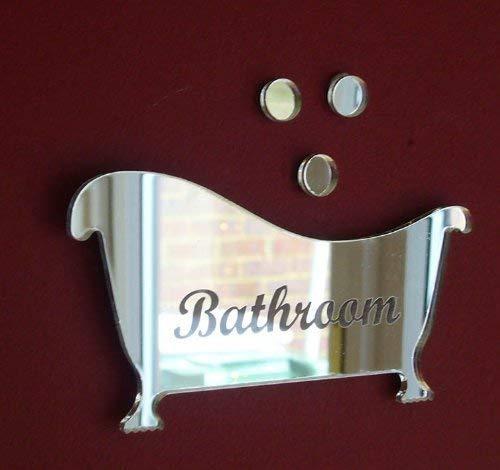 Super Cool Creations Bath & Three Bubbles Mirror 12cm x 8cm (Engraved...