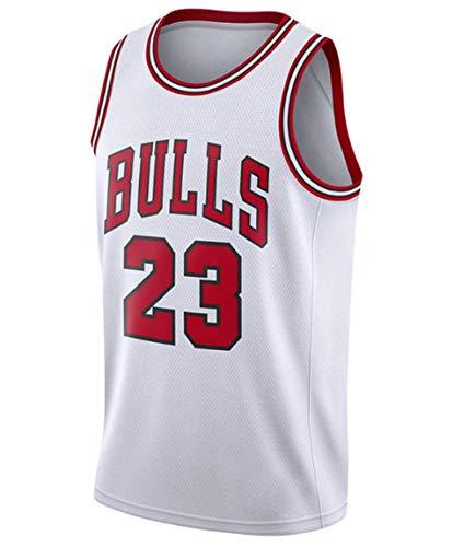 TFMus Camiseta de baloncesto para hombre, diseño retro de Michael Jordan #23 Chicago Bulls