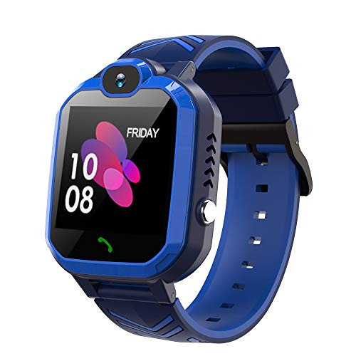 Kids Waterproof Smart Watch Phone, GPS/LBS Tracker Smart Watch for Kids for 3-12 Year Old Compatible iOS Android Smart Watch Christmas Birthday Gifts for Kids(Excluding SIM Card)