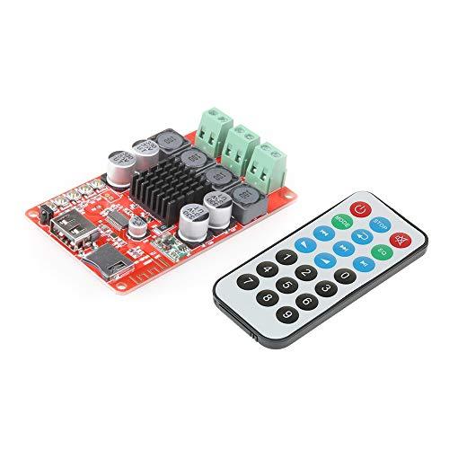 KKmoon TPA3116 2 * 50 W Módulo de Amplificador Estéreo DC 8-26V Receptor de Audio Inalámbrico Bluetooth Board Digital Disco TF Decodificador con Control Remoto SW-HF183