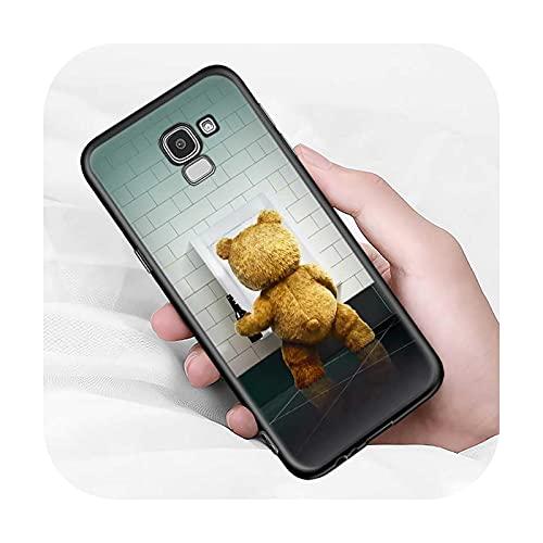 Lindo oso animal para Samsung Galaxy J2 J3 J4 Core J5 J6 J7 J8 Prime duo Plus 2018 2017 2016 suave negro cubierta del teléfono estilo 06-para J4 Core