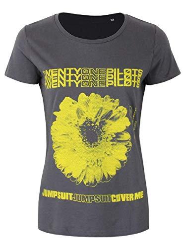 Twenty One Pilots Daisy Camiseta Mujer Ceniza/Negro M