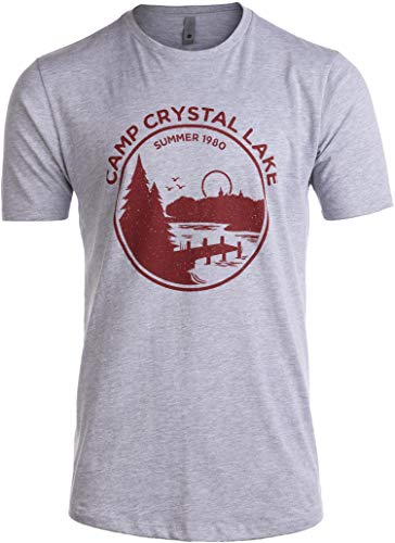 Tall Tee: 1980 Camp Crystal Lake Counselor | Funny 80s Horror Movie Fan T-Shirt-(Tall,XL)