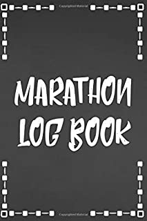 Running Log Book: Race Keepsake Marathon Runner Gifts (Marathon Running Log Tracker)