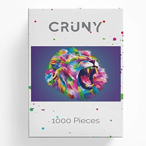 Cruny Puzzle 1000 Teile für Erwachsene - Magischer Löwe in 3D - Tolle Wanddekoration, 1000 Teile Puzzle, Puzzle Erwachsene 1000 Teile, Puzzle 1000 Teile Tiere, Puzzle Löwe 1000 Teile, 66x47cm