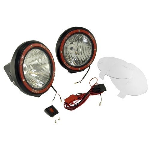 Rugged Ridge 15205.53 7-Inch Black Round HID Off-Road Light with
