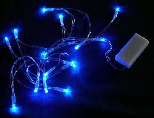 The Christmas Workshop Decorazioni di Natale 15 luci LED Blu