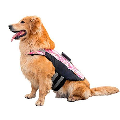 Liny Dog Life Jacket Vest | Verstelbare Superior drijfvermogen & Redding Handvat voor Puppy Kleine Grote Honden Zwemmen Surfing Float Coat