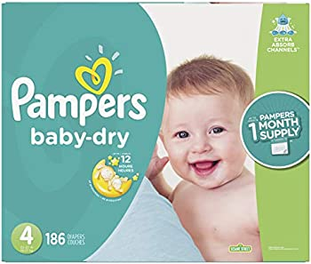 186-Count Pampers Baby Dry Disposable Baby Diapers, Size 4