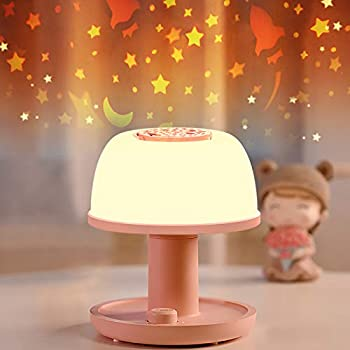 Toddler Night Light Lamp LICKLIP Dimmable LED Bedside Lamp with Star Projector Kids Night Lights with Timer Design & Color Changing Portable Rechargeable Lamp Cute Gifts for Children Bedroom