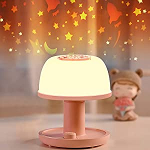 Kids Star Night Light Lamp – LICKLIP Cordless Dimmable LED Bedside Lamp with Handle, Timer & Memory Function, Portable Toddler Projector Starry Lamp with 2000mAh Battery, Christmas Gift for Children