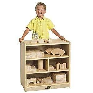 ECR4Kids Birch Hardwood Block Storage Cart, Natural