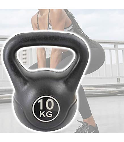TradeShop - Manubrio Kettlebell da 10 kg Peso con Maniglia Ginnastica Fitness ERGONOMICO - 18612