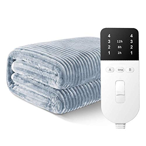 WRJY Home Electric Heated Throw, Over Blanket | Dual Control | Timer | 4 Heat Settings | Extra Large | Machine Washable Fleece | Digital Remote (Size : 180 * 150cm)