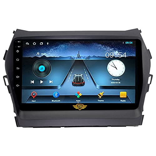 """Ateen Hyundai New Santa fe 9"""" inch Double din Android car Music System with Navigation/Android Player/Stereo with 1 GB ram/16 GB ROM/ Bluetooth/Touch Screen Media Player/ Split Screen/Mirror Link Support iOS"""