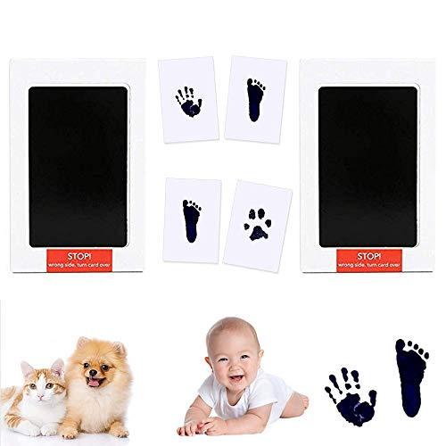 Impronta Mani e Piedi Neonati Inchiostro,Impronta Cane Senza Inchiostro,Impronte Mani e Piedi Bimbo,Baby Footprint Kit,Tampone di Inchiostro per Bambini