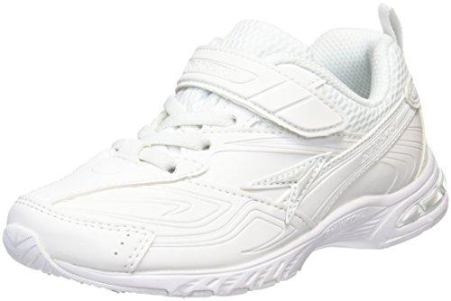 [シュンソク] スニーカー 通学履き 軽量 合皮 19cm~24.5cm 2E キッズ 男の子 女の子 SJJ 1440 ホワイト/ホワイト 22.0 cm