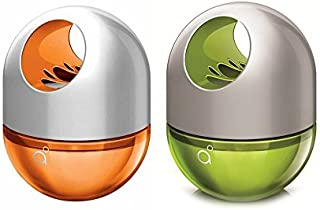 Godrej aer Combo of Bright Tangy Delight and Fresh Lush Green Twist Car Air Freshener (45gm+45 gm) by Kushuworld