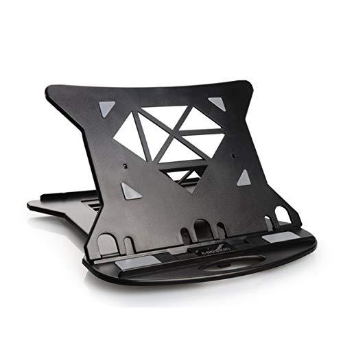 Soporte plegable para ordenador portátil de aleación de aluminio ajustable de escritorio base de enfriamiento portátil portátil soporte para portátil [ negro ]