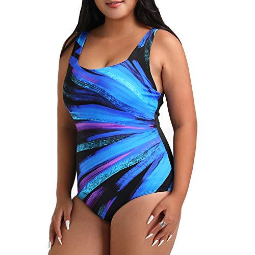 FULLFITALL Women's Swimsuits One Piece Training Athletic Swimsuits Bathing Suit for Women Swimwear (OP210619-004, 24)