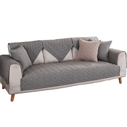 Hybad bankovertrek, overtrek voor sofa, antislip, 2/3/4 zits, dikke bank, van katoen-leer, gewatteerd, bankovertrek
