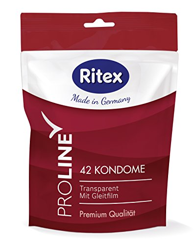 Ritex PROLINE Kondome, Gefühlsintensiv, Mega-Pack, 42 Stück, Made in Germany