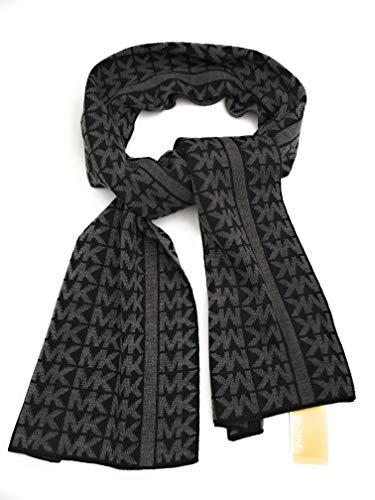 Michael Kors Schal - Schwarz - 160x25cm - MK Logosignatur - weiche Acrylwolle - Damenschal 3043