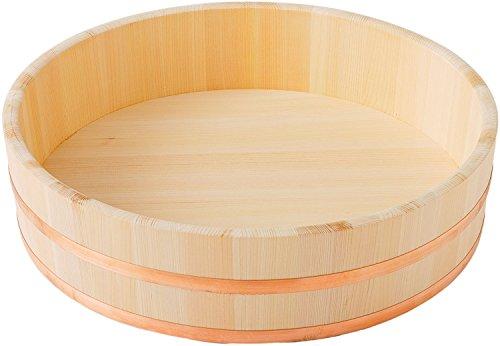 池川木材寿司桶木曽さわら寿司飯台銅箍42cm