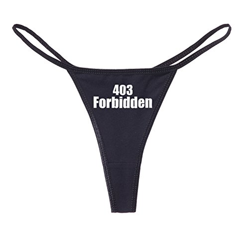 Decal Serpent 403 Forbidden Error Funny Damen Cotton String Bikini - Schwarz - Medium