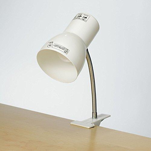 ELPA (エルパ) クリップライト 便利な中間スイッチ付 店舗照明 デスクライトにおすすめ SPOT-BLNE26C(PW)