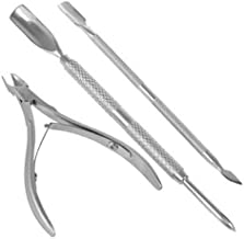 3Pcs/set Stainless Steel Nail Cuticle Pusher Spoon Remover Cutter Nipper Clipper Nail Scissors Nail Art Tools For Manicure