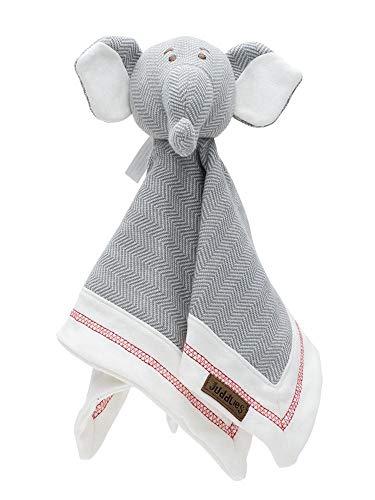 Juddlies - Lovey Baby Comfort Manta - Elefante orgánico gris de madera deriva - Colección Cottage