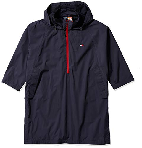 Tommy Hilfiger Damen Seated Fit Sport with Magnetic Zipper Poncho, Masters Navy, Einheitsgröße