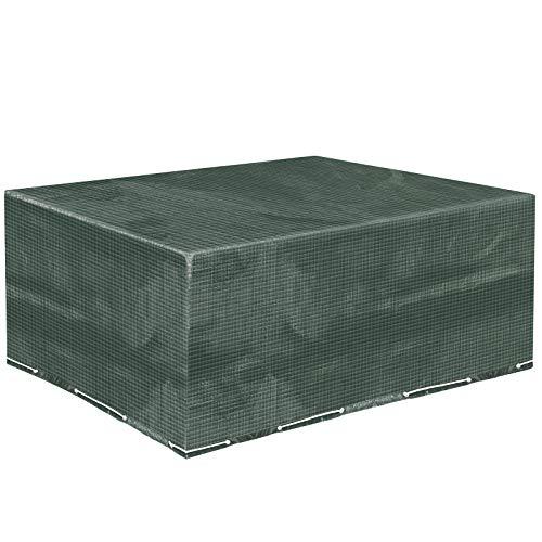 MVPower Abdeckung Schutzhülle Abdeckplane Abdeckhaube für Gartenmöbel und für rechteckige Sitzgarnituren, Gartentische und Möbelsets (250 * 210 * 90)